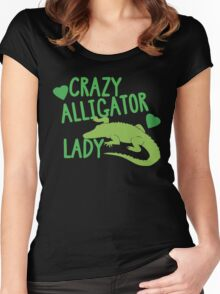 Crazy Alligator Lady Women's Fitted Scoop T-Shirt