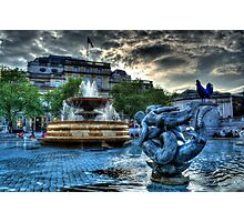 Trafalgar Square Fountain Photographic Print