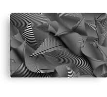 Abstract - Lines - Path to destruction Canvas Print
