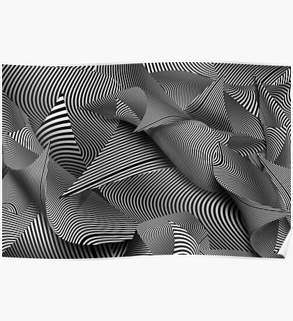 Abstract - Lines - Path to destruction Poster