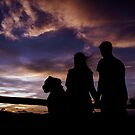 Family Sunset Silhouette by Casey Peel