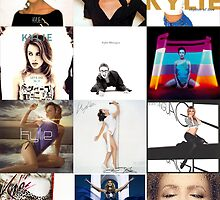 Kylie - studio albums poster by markkm08
