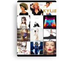 Kylie - studio albums poster Canvas Print