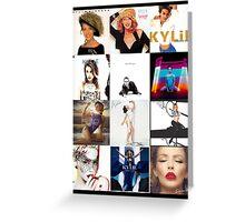 Kylie - studio albums poster Greeting Card