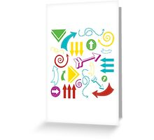 Arrows in Bright Greeting Card