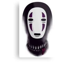 No face - What lies beneath the mask Metal Print