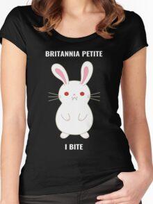 Britannia Petite - I Bite Women's Fitted Scoop T-Shirt