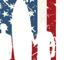 Land Of The Free Home Of The Wave, Surfer Quote National Surf Day Sticker