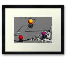 Abstract - Lines - That's a moire Framed Print