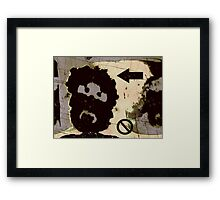 the incongruous misfit Framed Print