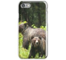 Soaked bear family iPhone Case/Skin