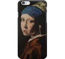 The Girl With The iPod Headphones iPhone Case/Skin