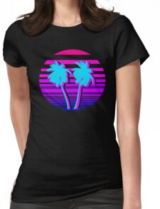 Aesthetic Palm trees Womens Fitted T-Shirt