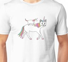 Cat and Unicorn Unisex T-Shirt