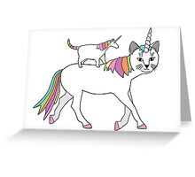 Cat and Unicorn Greeting Card