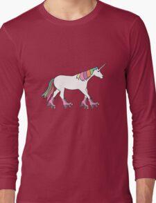 Rollerskater Unicorn Long Sleeve T-Shirt