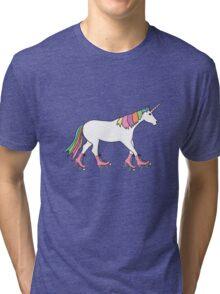 Rollerskater Unicorn Tri-blend T-Shirt