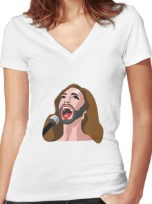 Eurovision winner 2014 Women's Fitted V-Neck T-Shirt