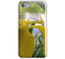 Yellow flower over river  iPhone Case/Skin
