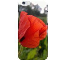 Poppy over river in norfolk iPhone Case/Skin