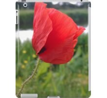 Poppy red over river iPad Case/Skin