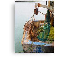 Rusty boat Canvas Print