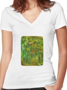 Nature Lies - Boxed Women's Fitted V-Neck T-Shirt