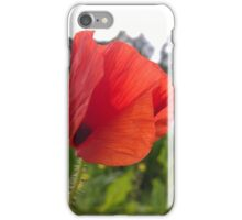 Poppy over river iPhone Case/Skin