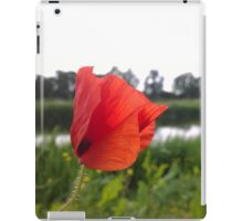 Poppy over river iPad Case/Skin