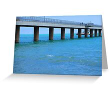 Pier and the sea Greeting Card