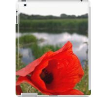 Poppy on river iPad Case/Skin