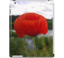 Poppy over the river iPad Case/Skin