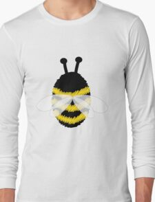 Bumble bee on blue... Long Sleeve T-Shirt