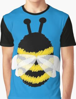 Bumble bee on blue... Graphic T-Shirt