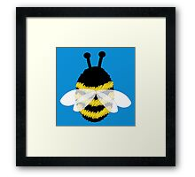 Bumble bee on blue... Framed Print