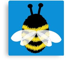 Bumble bee on blue... Canvas Print