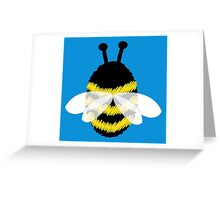 Bumble bee on blue... Greeting Card