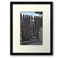 Old Fort Bay, Fence Framed Print