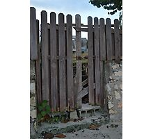 Old Fort Bay, Fence Photographic Print
