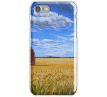 Barn in Wheat Field iPhone Case/Skin