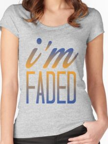 Faded Multi Women's Fitted Scoop T-Shirt