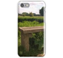 Bench on norfolk river iPhone Case/Skin