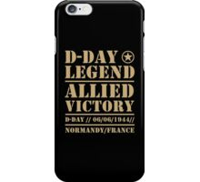 D Day Legend Allied Victory Normandy France iPhone Case/Skin