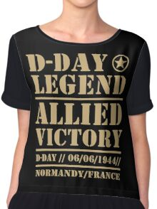 D Day Legend Allied Victory Normandy France Chiffon Top