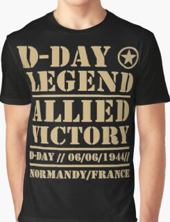 D Day Legend Allied Victory Normandy France Graphic T-Shirt