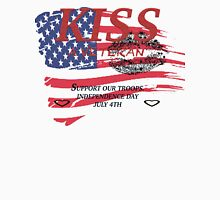 KISS A Veteran - Support Our Troops.  Independence Day July 4th Unisex T-Shirt