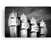 Gaudi's Guardians Canvas Print