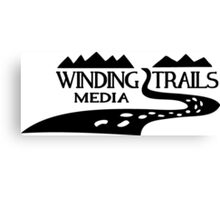 Winding Trails Media Black Logo Canvas Print