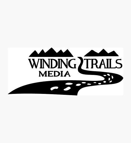 Winding Trails Media Black Logo Photographic Print