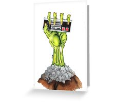 Zombie Gamer Greeting Card